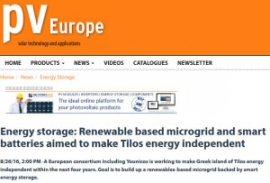 Article about TILOS published in PV Europe